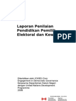 Laporan Penilaian Pendidikan Pemilih, Elektoral dan Kewargaan
