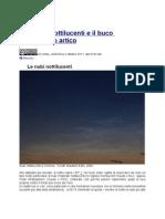 Le nubi nottilucenti e il buco nell'ozono artico