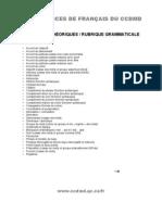 Rubrique gramaticale - CCDMD