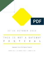2010 Festival Programme
