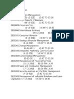 III SEM Timetable
