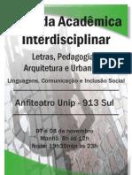 Programação - Jornada Acadêmica Interdisciplinar