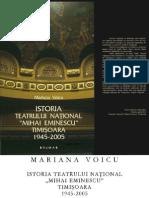 """Voicu, Mariana, Istoria Teatrului Naţional """"Mihai Eminescu"""" Timişoara 1945-2005"""