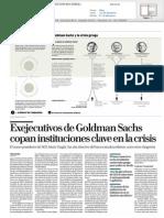 Sobre Goldman Sachs y la crisis financiera