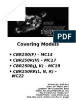 Honda CBR250R Maintenance Guide