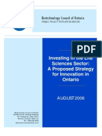 Biotechnology Council of Ontario - Life Sciences Strategy 2006