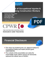 Lifetime Risk of Occupational Injuuries & Illnesses Among Construction Workers