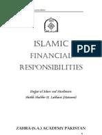 Islamic Financial Responsibilities