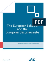 Dfes European Baccalaureate Booklet