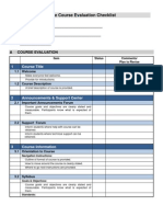 Online Course Evaluation Checklist From Sandy Hirtz, Sept. 2011