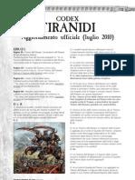 Codex Tiranidi - Aggiornamento Ufficiale Luglio 2010
