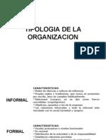 Tipologia de La Organizacion