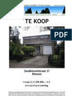Brochure Zandheuvelstraat 37 Rhenen