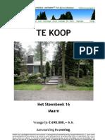 Brochure Het Steenbeek 16 Maarn
