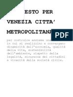 Manifesto per Venezia Città Metropolitana