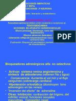 INHIBIDORES DE FUNCIONES SIMPATICAS