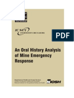 Oral History analysis of mine disasters