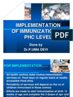 Implementation of Immunization at PHC LEVEL