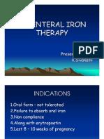 Parenteral Iron Therapy