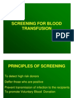 Screening for Blood Transfusion