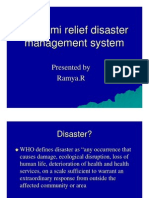 Tsunami Relief Disaster Management System