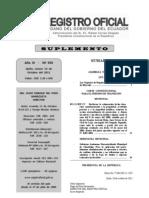RO S 555 20111013 Ley Orgánica de Regulación y Control de Poder de Mercado