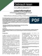 Benutzerinformation YaletexRSE-SRS1