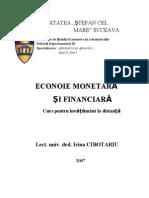 Econoie Monetara Si Financiara