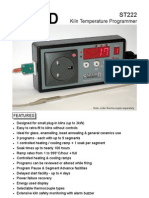 ST222  13A Plug in Kiln Temperature Programmer - suitable glass and ceramics