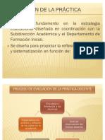 PROCESO DE EVALUACIÓN DE LA PRÁCTICA DOCENTE