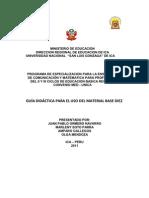 GUÍA DIDÁCTICA PARA EL USO DEL MATERIAL BASE DIEZ