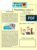 Thanksgiving Our Heritage Parent Newsletter No. 5