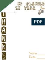 Thanks 2011 Printable
