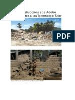 Construcciones en Adobe Resistentes a Los Terremotos