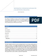 Assessment of Mathematical Propulsion Methods for Use in Continuous Simulation