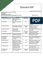 07 - Dicionario da EAP