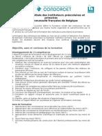 Formation initiale des instituteurs préscolaires et primaires en CF