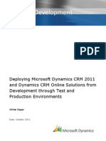 Deploying Microsoft Dynamics CRM Solutions From Development Through Test and Production Environments