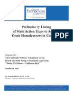 State Action Steps to Address Youth Homelessness