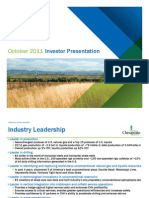 Chesapeake Investor Presentation October 2011