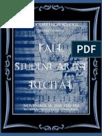 RHS Fall Student Artist Recital  2011