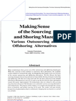 Book Chapter on Outsourcing and Off Shoring Alternatives