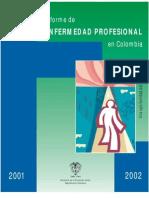 Informe enfermedad profesionalColombia