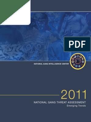2011 11 2 FBI Gang Threat Assessment | Gang | Violent Crime