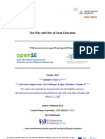 The Why and How of Open Education v1.5 - With lessons from the openSE and openED Projects