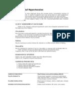 Intrapartal Hypertension Nursing Diagnosis (NANDA)