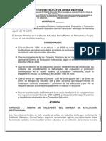 Sistema de evaluación Divina Pastora 2011