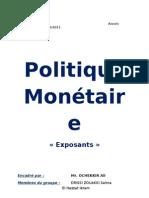 politique monétaire