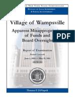 Village of Wampsville NYS audit