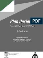 Actualización Plan Nacional de Formación y Capacitación (2003)
